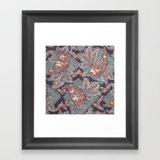 Vintage Floral Pattern Framed Art Print