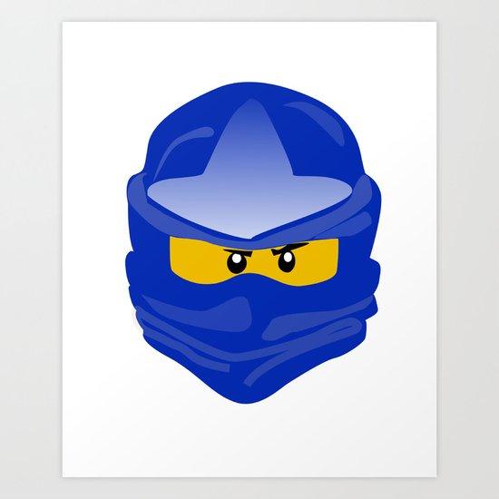 Ninjago face Jay  Art Print