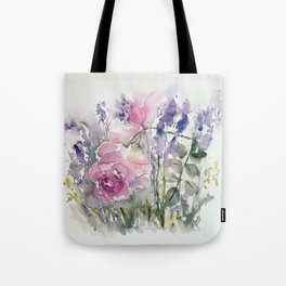 Rosees and Lavender Tote Bag