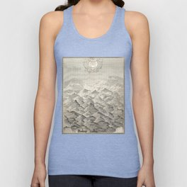 Vintage Map of Hills and Mountains in Great Britain, 1837 Unisex Tank Top