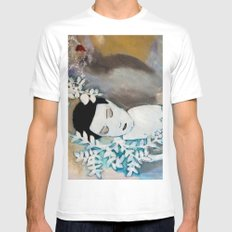 Dreaming Mens Fitted Tee MEDIUM White
