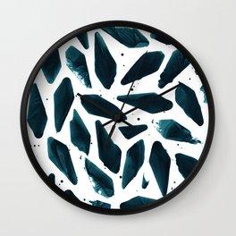 Deep Sea Teal Wall Clock