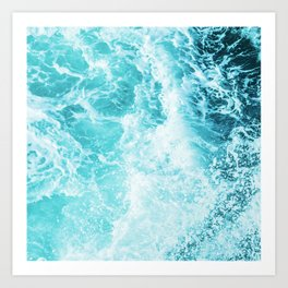 Perfect Sea Waves Art Print