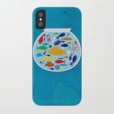 Big fish, little bowl.  iPhone X Slim Case