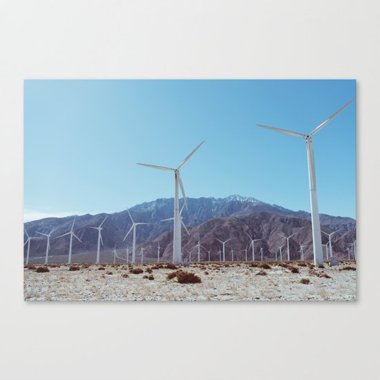 Palm Springs Windmills XI Canvas Print