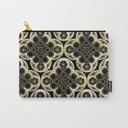 Golden Moroccan Tile Glam #1 #pattern #decor #art #society6 Carry-All Pouch