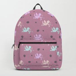 Cupids on pink Backpack
