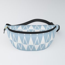 Mid Century Modern Diamond Pattern Pale Blue 234 Fanny Pack