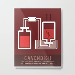Science Posters - Henry Cavendish - Chemist, Physicist Metal Print