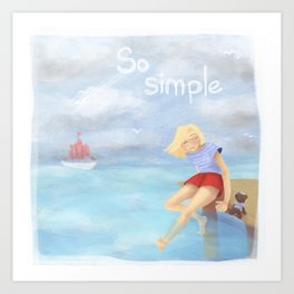 So simple Art Print