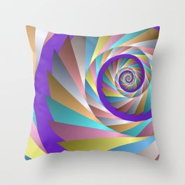 colorful spiral -61- Throw Pillow