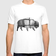 Buffalo (The Living Things Series)  MEDIUM White Mens Fitted Tee