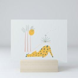 Leopard and Flower Mini Art Print