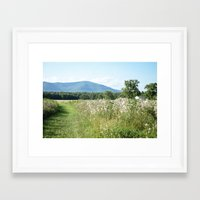 woodstock Framed Art Prints featuring Woodstock, NY by Claire Cali