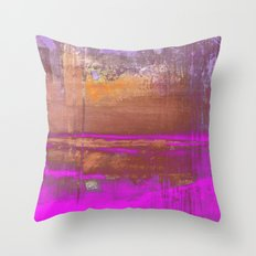 Pink Color Patches Throw Pillow