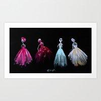 The Gathering Fashion Illustration Art Print