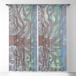 Tree of life Sheer Curtain