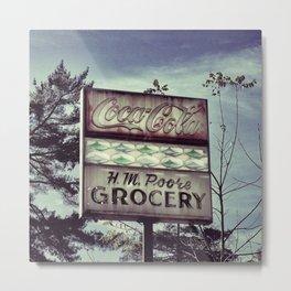 Poore Grocery Metal Print