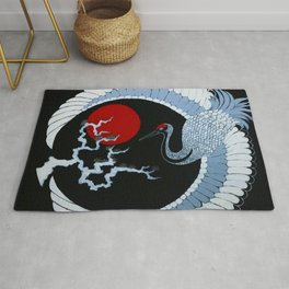 Dawn of the Rising Sun: Crane Rug