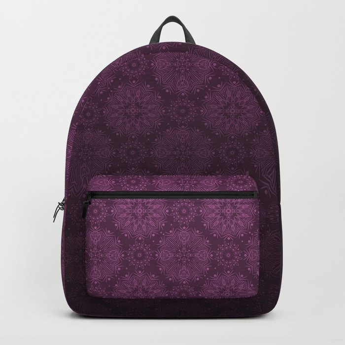 Gradient ornament wine color Backpack
