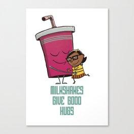 Milkshake Hugs Canvas Print
