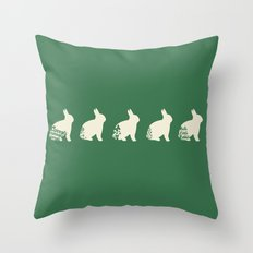 Rabbit loves carrots Throw Pillow