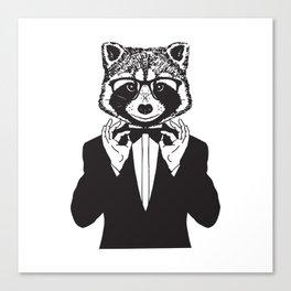 Fancy Raccoon Canvas Print