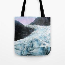 Blue Ice Wave (Vintage Glacier Photo) Tote Bag