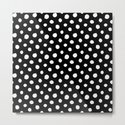 Minimal- white polka dots on black - Mix&Match with Simplicty of life by simplicity_of_live