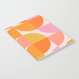Mid Century Mod Geometry in Pink and Orange Notebook