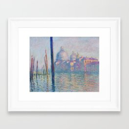 Le Grand Canal by Claude Monet Framed Art Print