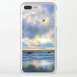 Above the Sea Clear iPhone Case