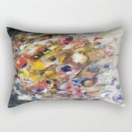 Cosmic Orbit - Mixed Media Beeswax Encaustic Abstract Modern Fine Art, 2015 Rectangular Pillow