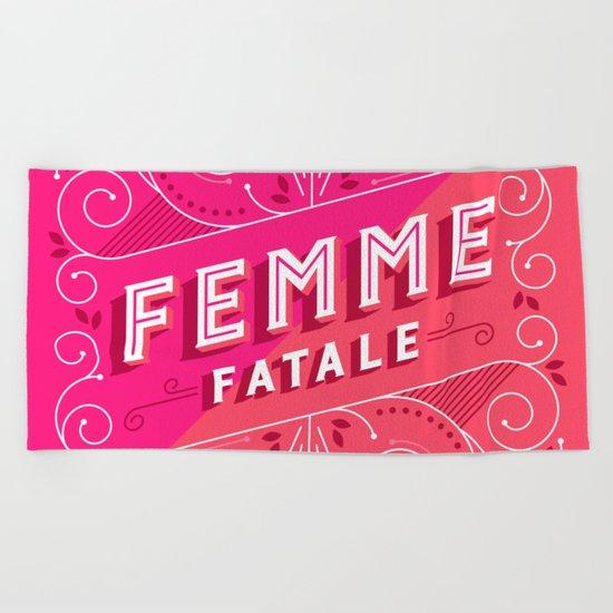 Femme Fatale Beach Towel