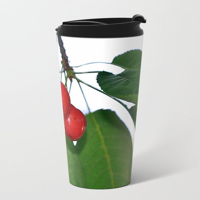 cherries Metal Travel Mug