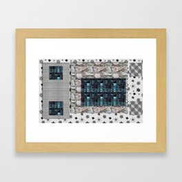 textures for the interior grey Framed Art Print