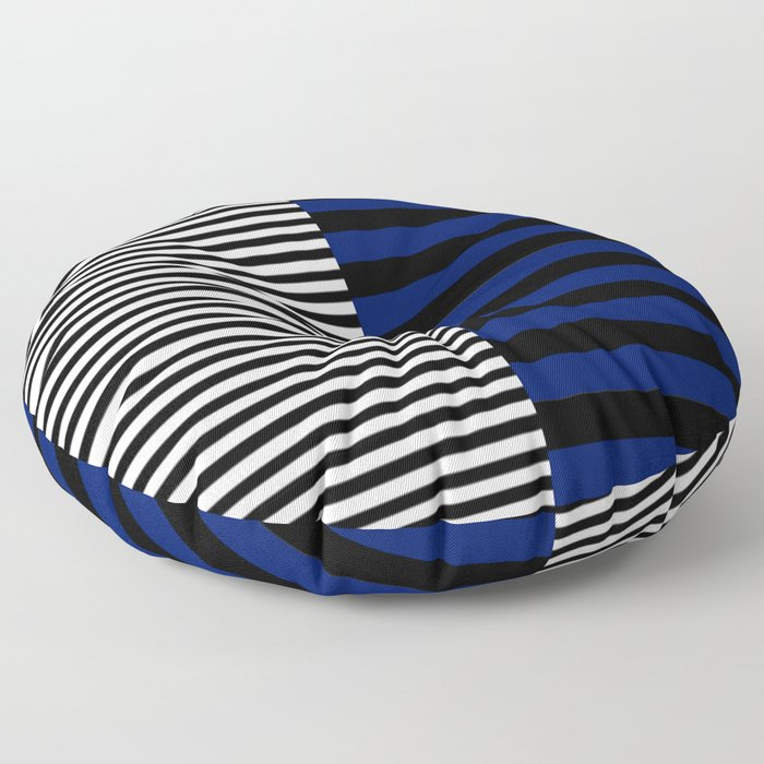 Different Sides (Blue) Floor Pillow