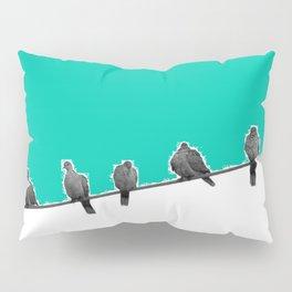 Birds in a Wire Pillow Sham