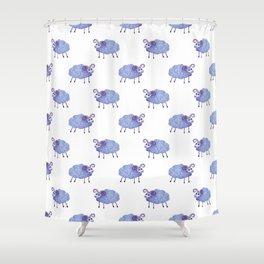 cute sheep pattern Shower Curtain