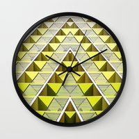 holiday Wall Clocks featuring holiday by Melcho