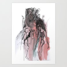 She intimidates me Art Print