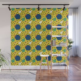 Leopard Geo Mix Pattern Multi Color - Yellow Wall Mural