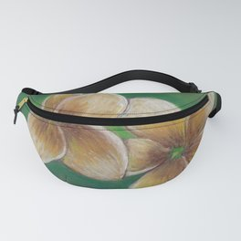 Plumeria flowers drawing by pastel Fanny Pack