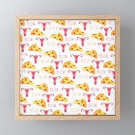 Pizza n' Pussy Framed Mini Art Print