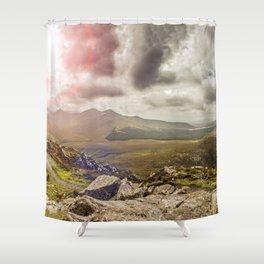 Ireland Mountain Landscape Panorama Shower Curtain