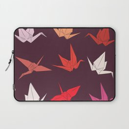 Japanese Origami paper cranes sketch, symbol of happiness, luck and longevity Laptop Sleeve