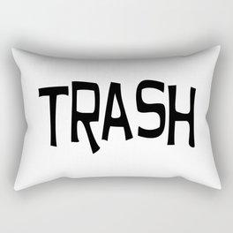 Trash print black Rectangular Pillow