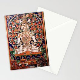 Buddhist Body Mandala Chakra  Stationery Cards