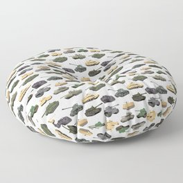 Multiple Battle Tanks Floor Pillow