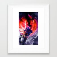 sandman Framed Art Prints featuring Sandman by Limbolun
